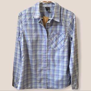 Patagonia plaid lightweight wicking hiking shirt